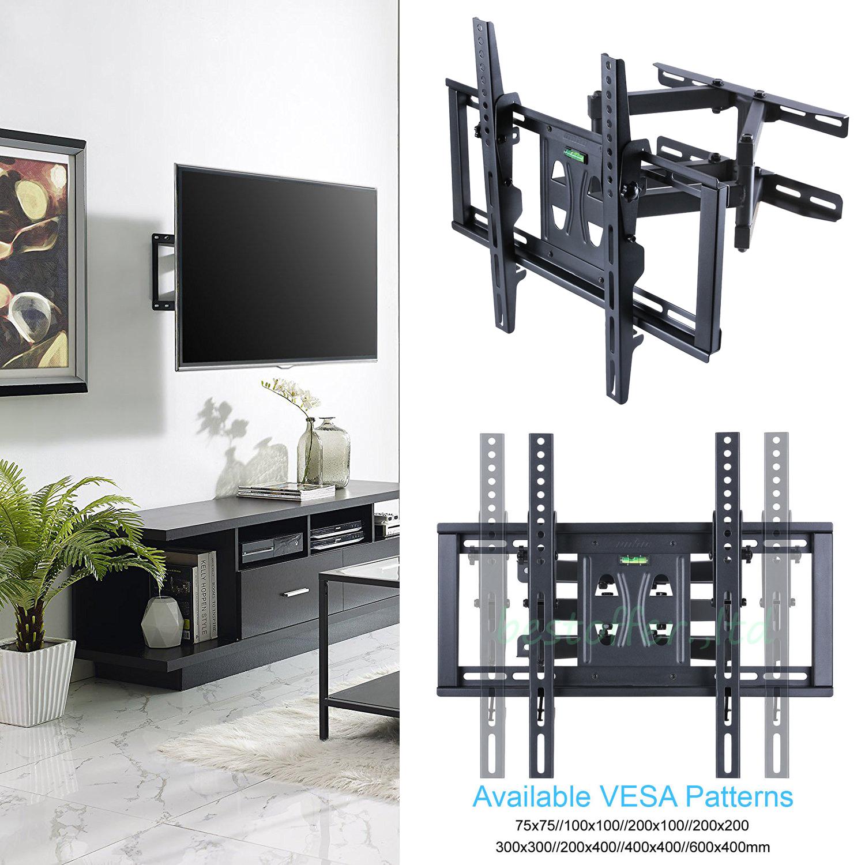 Tilting Angle 15° Full Motion 180° Swivel TV Wall Mount Bracket for
