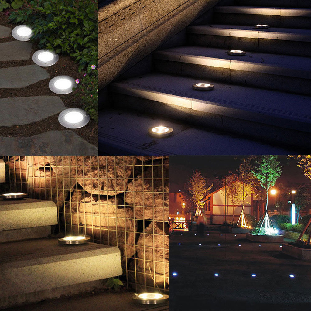 8 Led Solar Outdoor Buried Light Under Ground Lamp Path