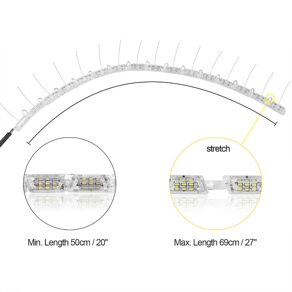 Flexible Crystal Led Strip Drl Headlight Daytime Running Light Turn Headlights On Lights Wiring Diagram Signal Lamp