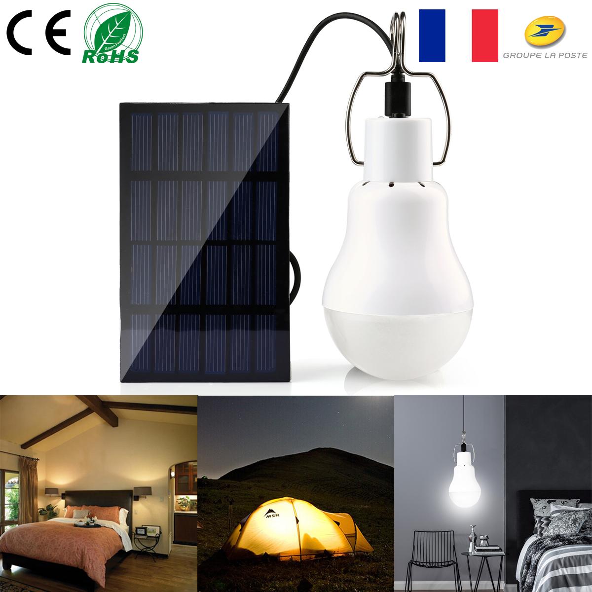 Lampe Energie Solaire Interieur détails sur 15w/20w Énergie solaire panel ampoule led intérieur extérieur  lampe de camping t