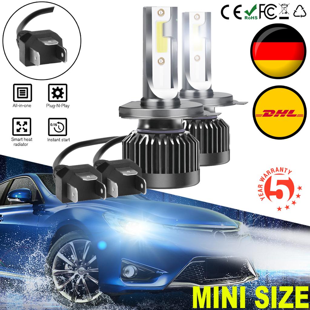 Mini H4 Led Scheinwerfer Nachrustsatz Auto Birnen Lampe