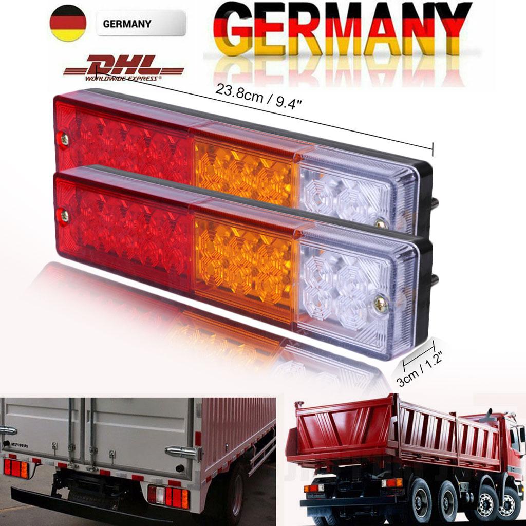 LEDs Rückleuchten Set 12V Heckleuchte Rücklicht Anhänger LKW Traktor PKW Van Bus