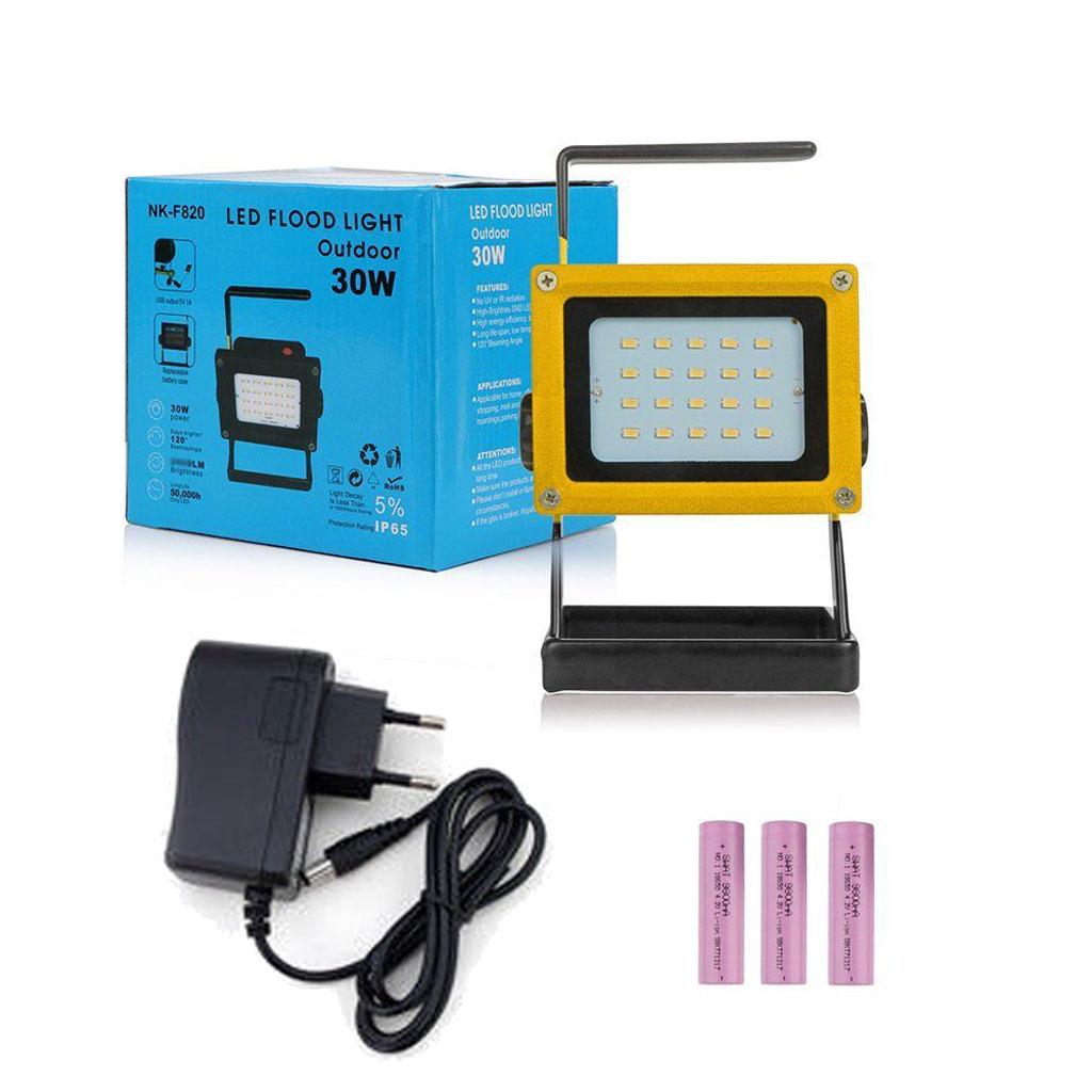 30w 20 led projecteur portable rechargeable inonder lampe ext rieur etanche ebay. Black Bedroom Furniture Sets. Home Design Ideas