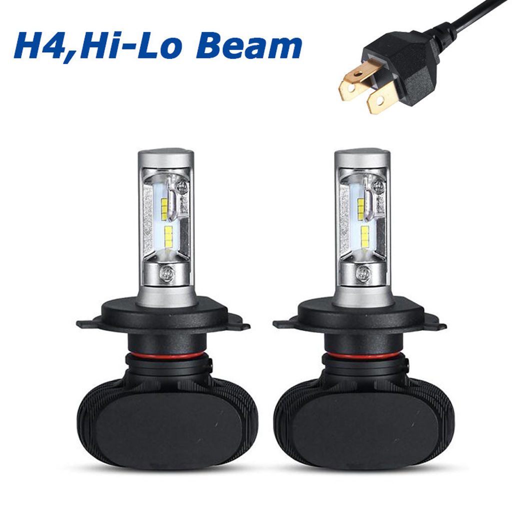 50w 8000lm h4 hi lo philips led ampoule voiture phare feux lampe kit x non blanc ebay. Black Bedroom Furniture Sets. Home Design Ideas