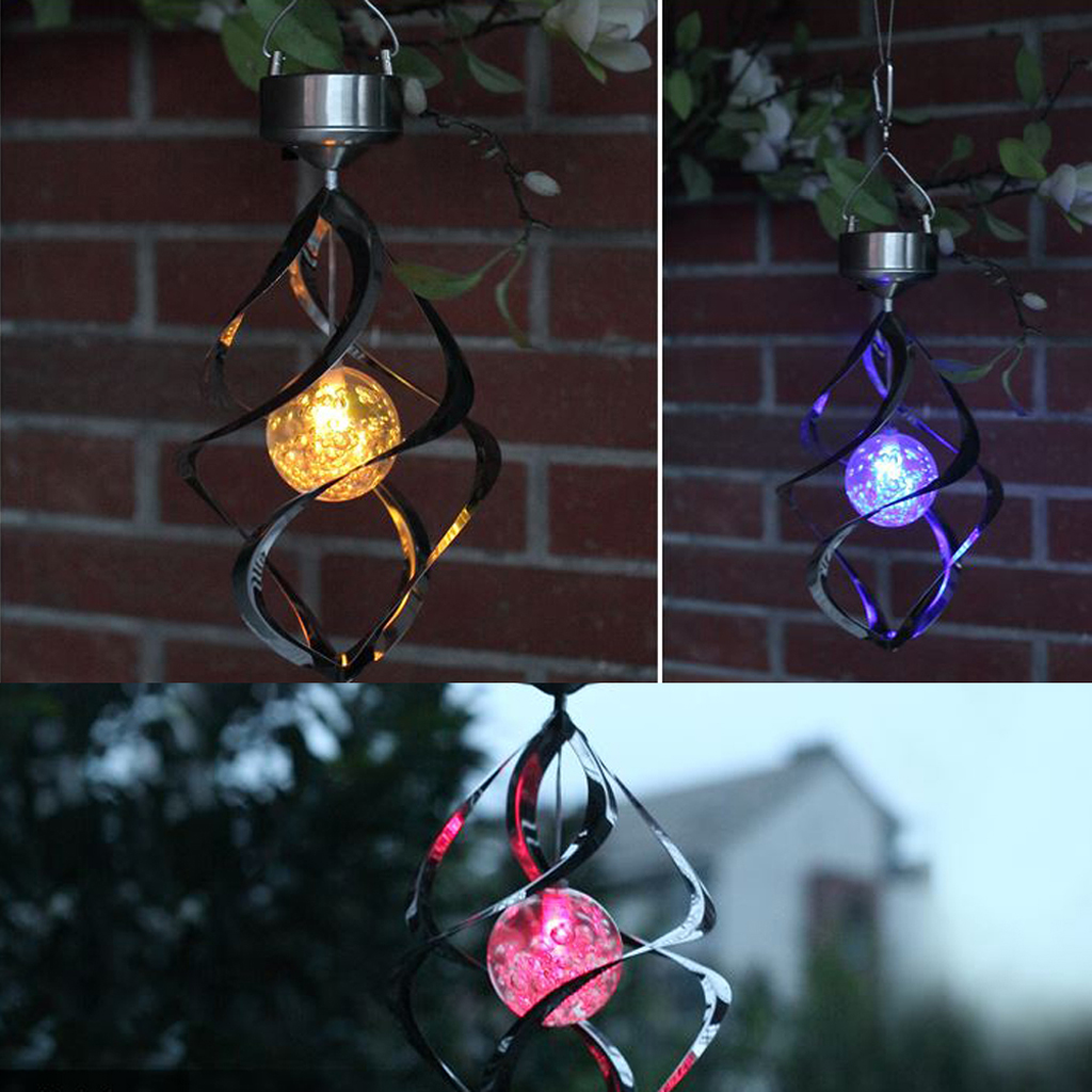 Outdoor Hanging Solar Lights Canada: Solar LED Wind Chime Light Garden Decor Courtyard Hanging