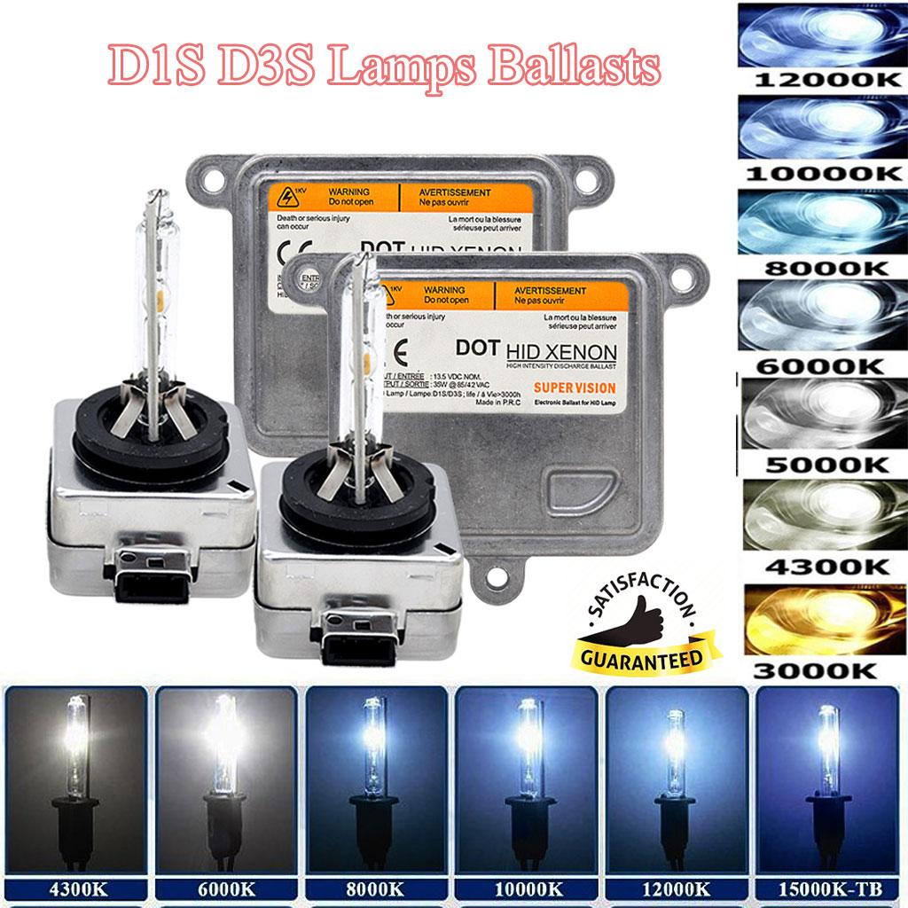 35W 55W 75W 100W HID Headlight Xenon Bulbs Conversion Kit 5//6000K 8000K 10000K