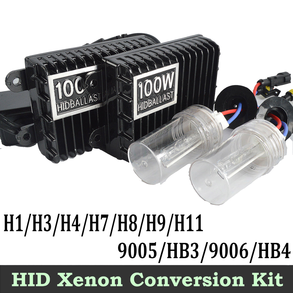 55w 100w hid xenon conversion kit h1 h3 h4 h7 h8 h9 9005. Black Bedroom Furniture Sets. Home Design Ideas
