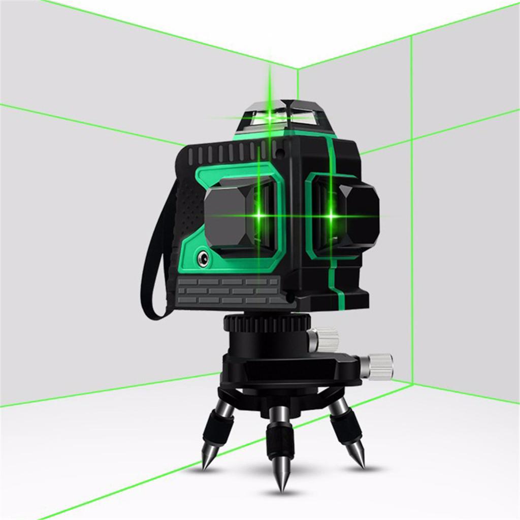 12 Line Linienlaser 360° 3D Kreuzlinienlaser Baulaser Selbstnivellierender GOOD+