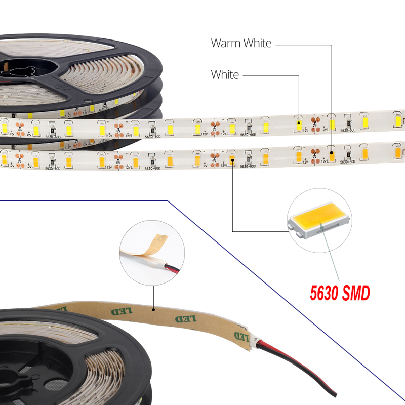 5 10 15 Meter Tira De Luz Led Strip 5630 Smd Cinta