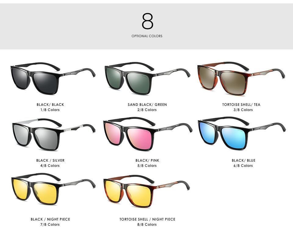 b94b38fe29 Luxurious Mens Retro Polarized Sunglasses Metal Aviator Glasses ...