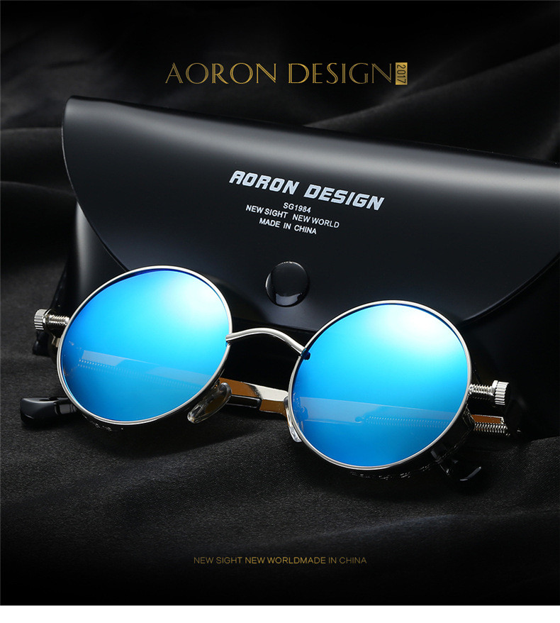 c6a4cbc9df Polarized Sunglasses Men s Retro Round Metal Outdoor Drving Eyewear Glasses