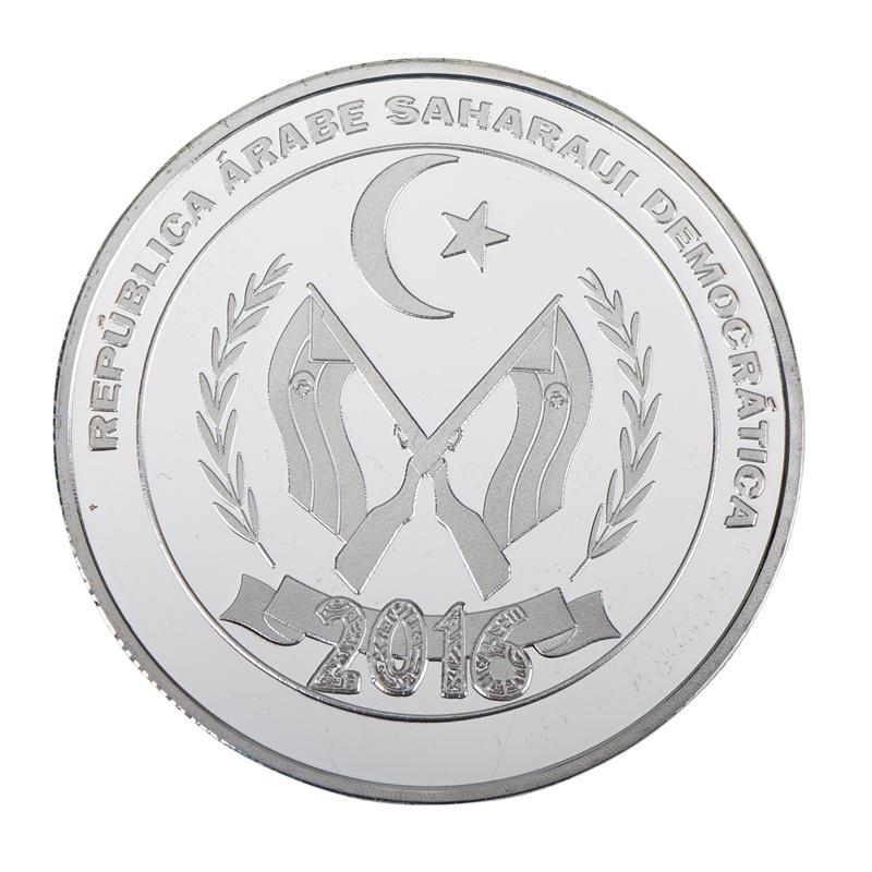 500 Ptas 2010 Arab cullture bimetal SAHARAWI SAHARAOUI Rep
