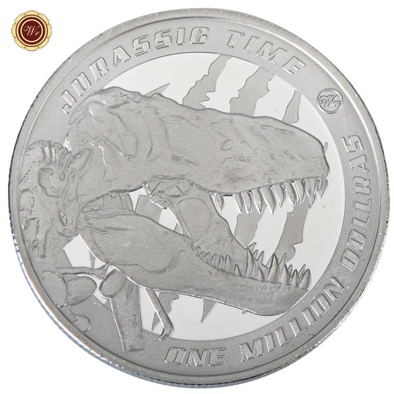 WR Dinosaur World Tyrannosaurus Rex $1 Million Silver Coin Gift 4 Jurassic Fans