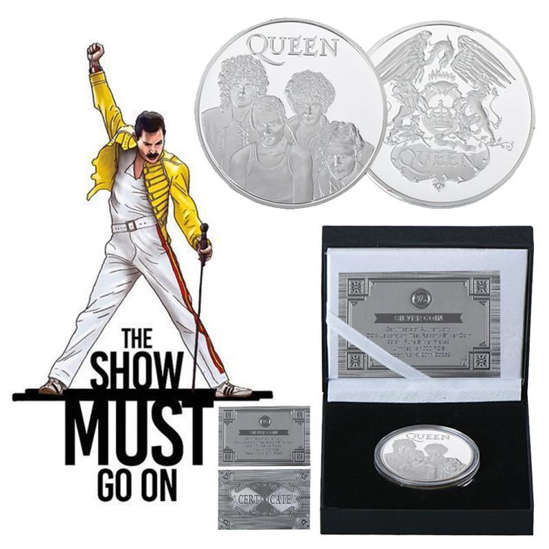 WR Freddie Mercury Queen Rock /& Pop Silver Coin In Box Music Fans Gift