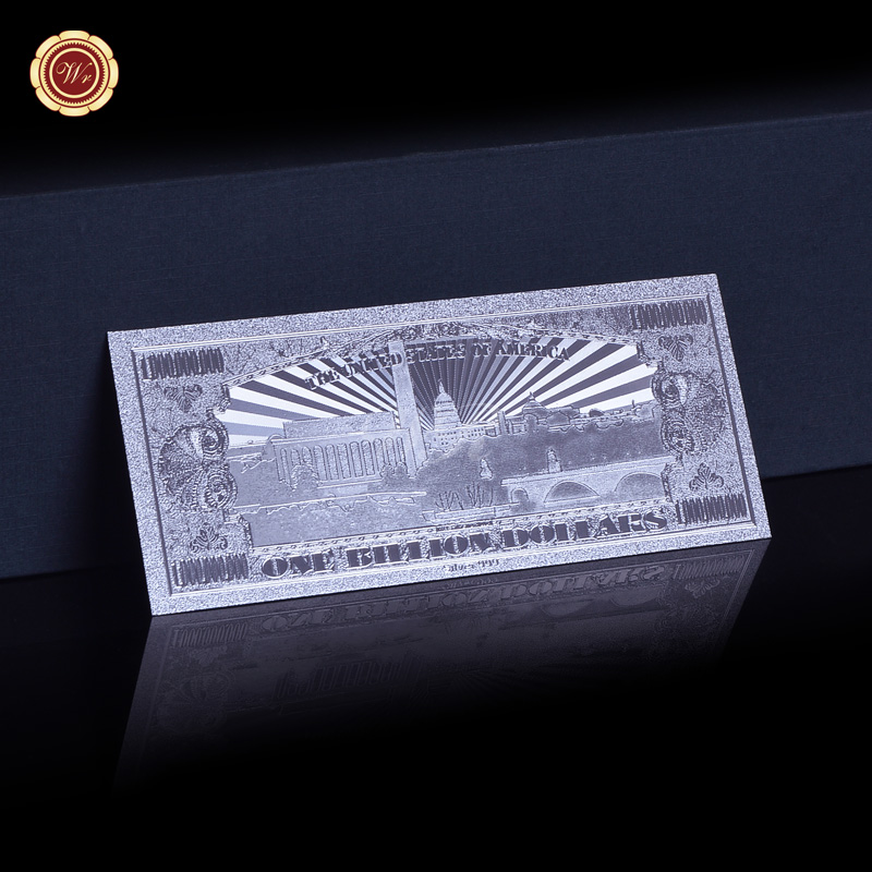 WR USA $1 Billion Silver Banknote Certificate of Authenticity Paper Money Gift