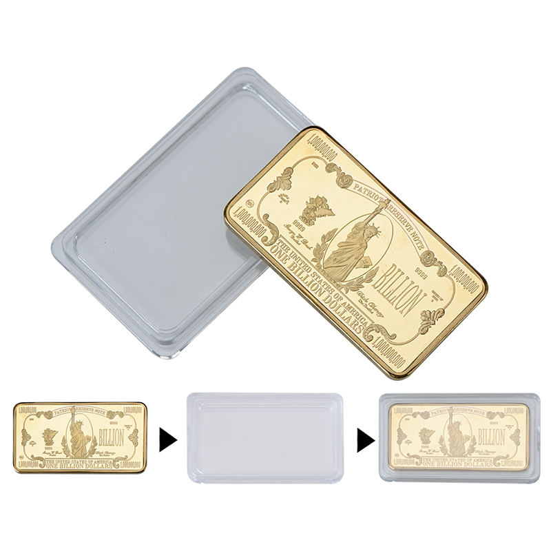 WR $1 Billion Dollar Novelty Money Bill Gold Art Bar Ingot Bullion Good Gifts