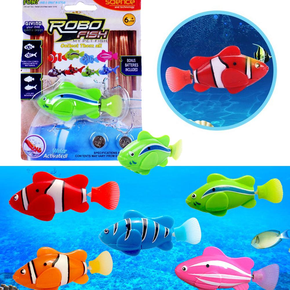 Kids Bath Fish Swimming Robofish Activated Battery Powered Robo Fish ...