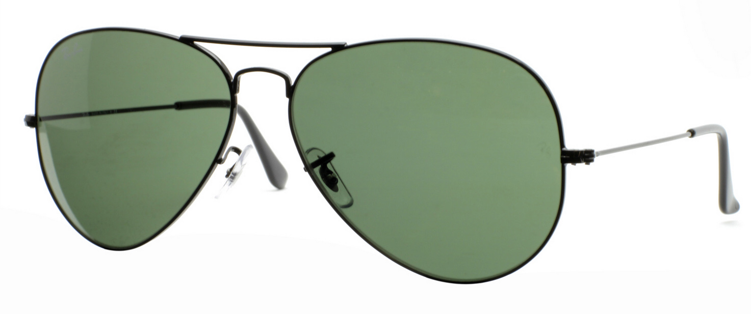 New Rayban RB Aviator Sunglasses RB3026 L2821 Black Green 62mm Free Shipping 88b2cda0e7