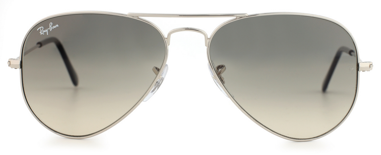 0cb743acf06 Details about Ray-Ban Aviator Sunglasses RB3025 003 32 Silver Gradient Grey  58mm Free Shipping