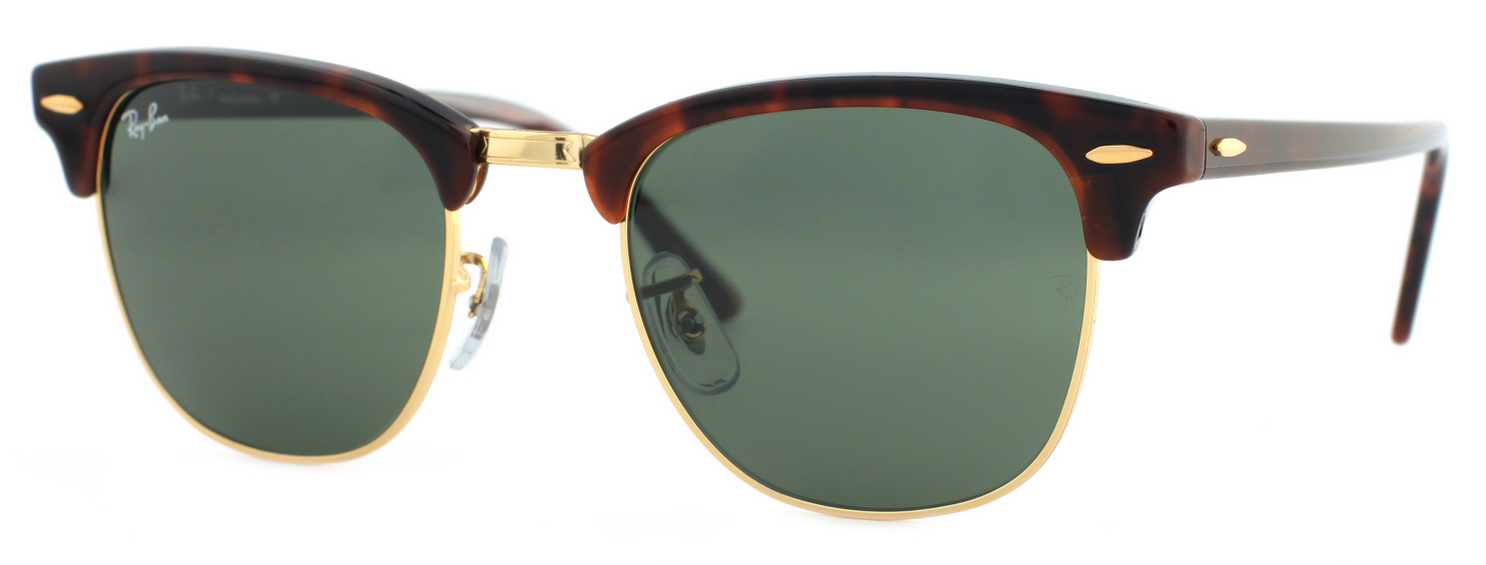 9b8f320e3af Ray-Ban Clubmaster Sunglasses RB3016 W0366 Tortoise Green 51mm Free ...