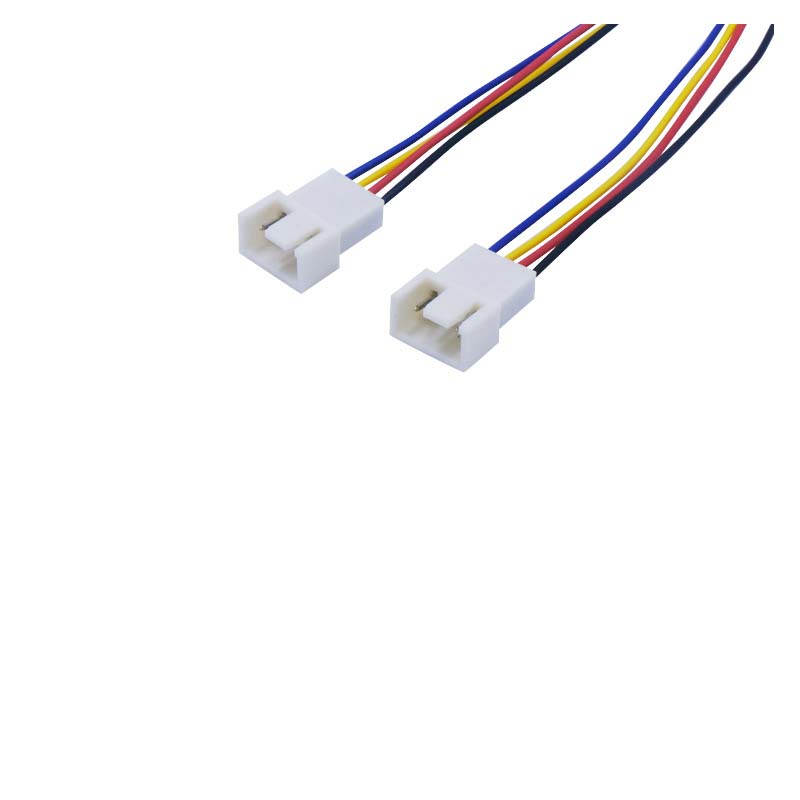 Yibuy 2Pcs 26.5 cm4 Pin Male to Female CPU Fan Extension Cable Chassis Extensi