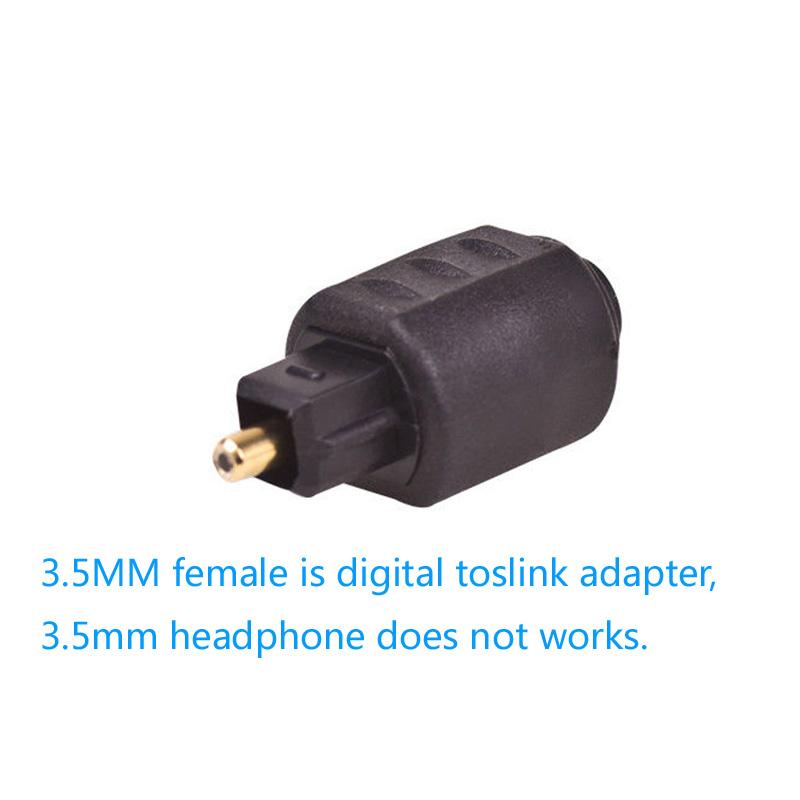 Optical Audio Adapter Mini 35mm Female Jack Plug To Digital Toslink Rhebay: Mini Toslink To Optical Audio Adapter At Gmaili.net
