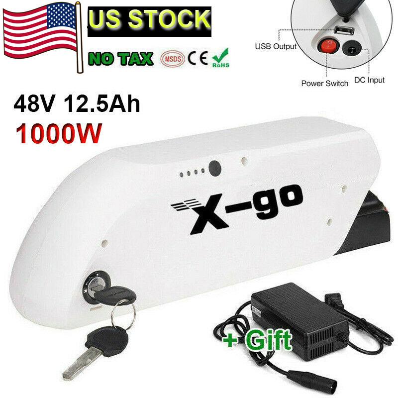 48V 12.5Ah Lithium E-Bike Battery Power For Max 1000W Motor Scooter