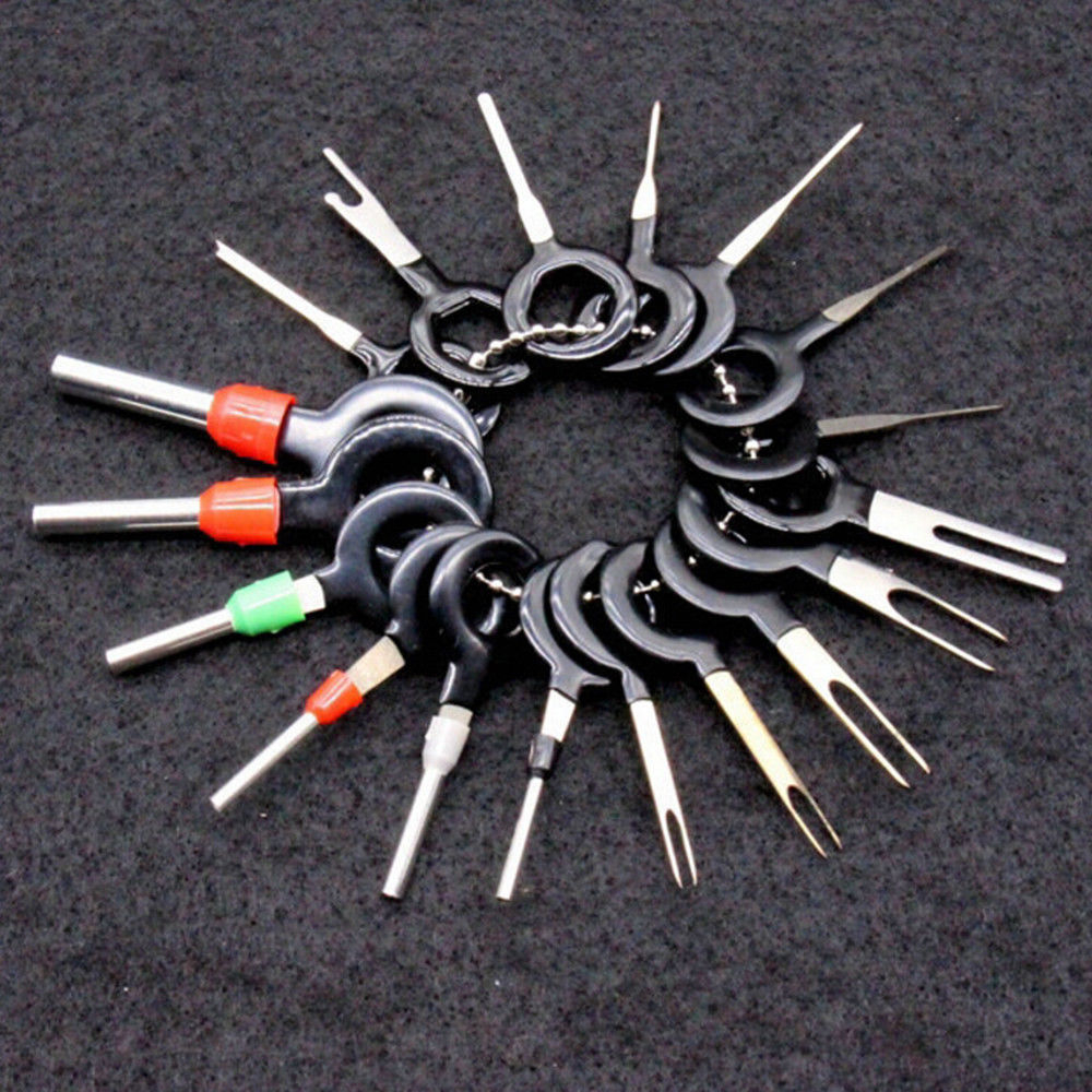 18Pcs Car Wire Terminal Removal Tool Wiring Connector Pin Extractor Puller TR