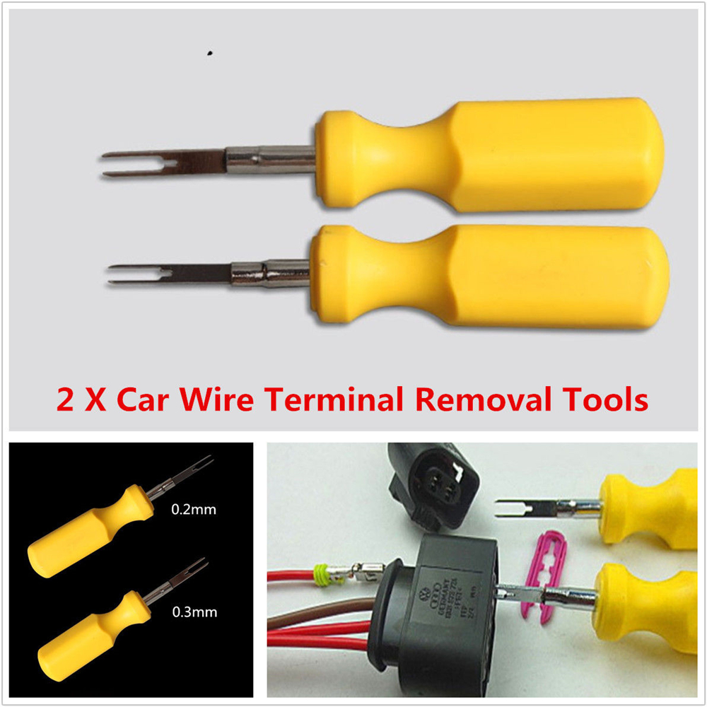 2x Car Terminal Removal Tool Kit Wiring Connector Pin Release Puller ...