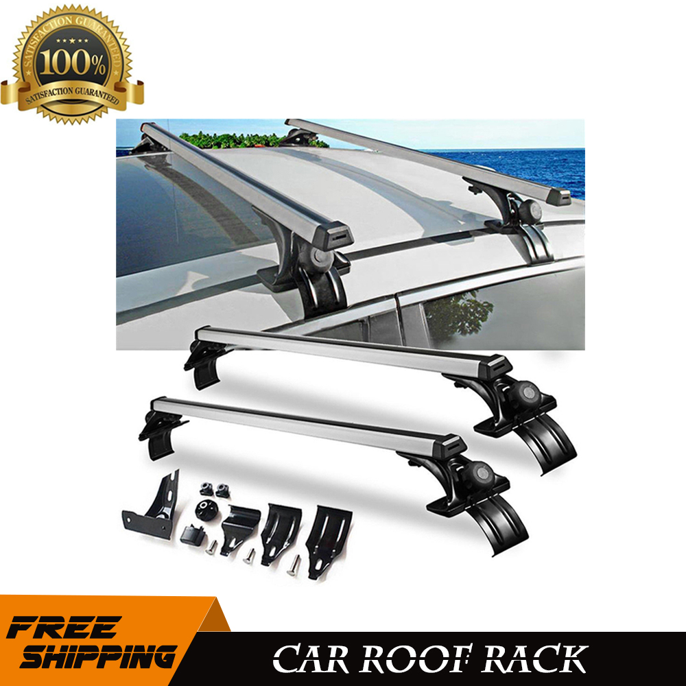 Universal Car Top Roof Cross Bar Luggage Cargo Carrier Rack SUV 3 Kinds Clamp #