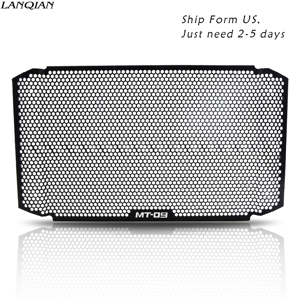 Duokon Motorcycle Radiators Guard Grill Protectors Refit Water Tank Protective Net Radiator Grille Guard Cover for MT-09 13-15