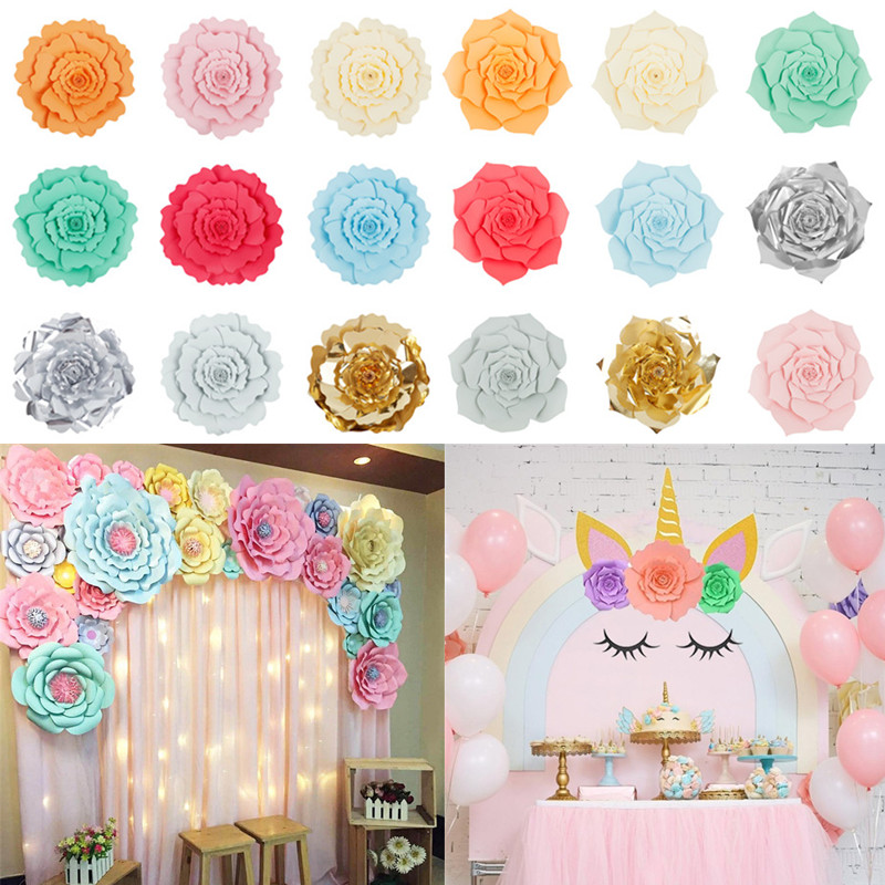 Details About 30 40cm Large Paper Backdrop Rose Flowers Wedding Birthday Party Wall Decoration
