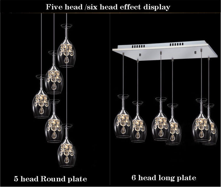 Modern crystal wine glasses chandelier cafe bar table dining room modern crystal wine glasses chandelier cafe bar table dining room led chandelier aloadofball Images
