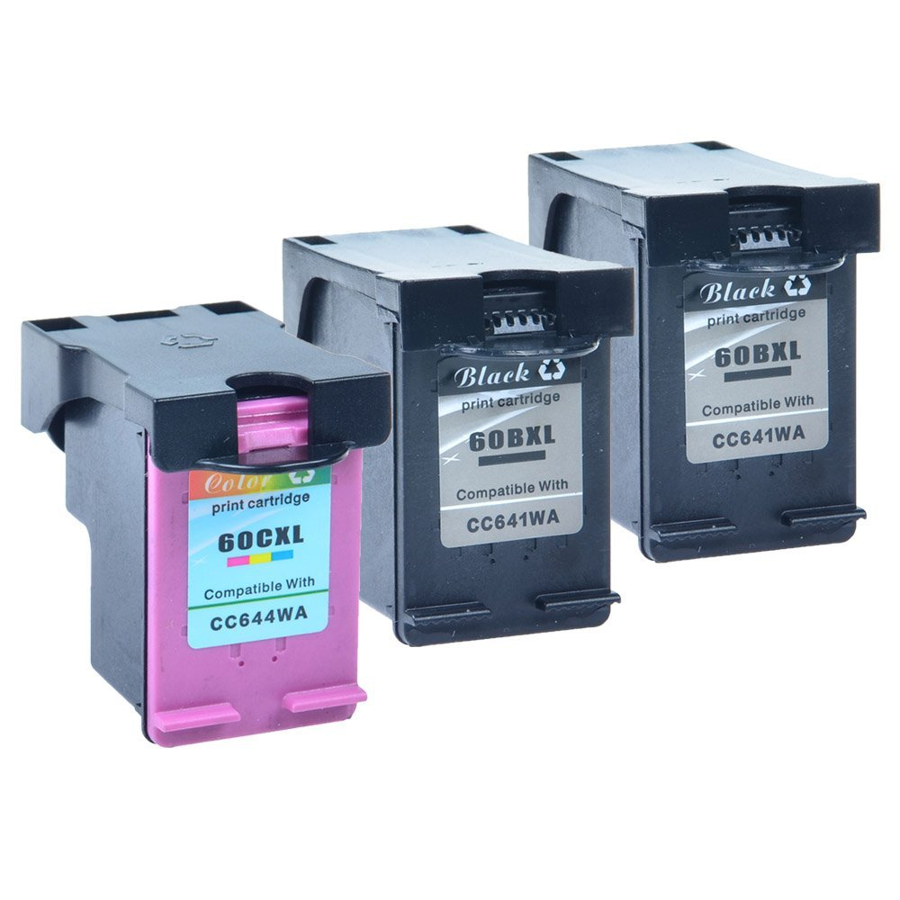 3 Pack Compatible For HP 60XL Ink Cartridge Combo D110a F2480 F2430 Printers