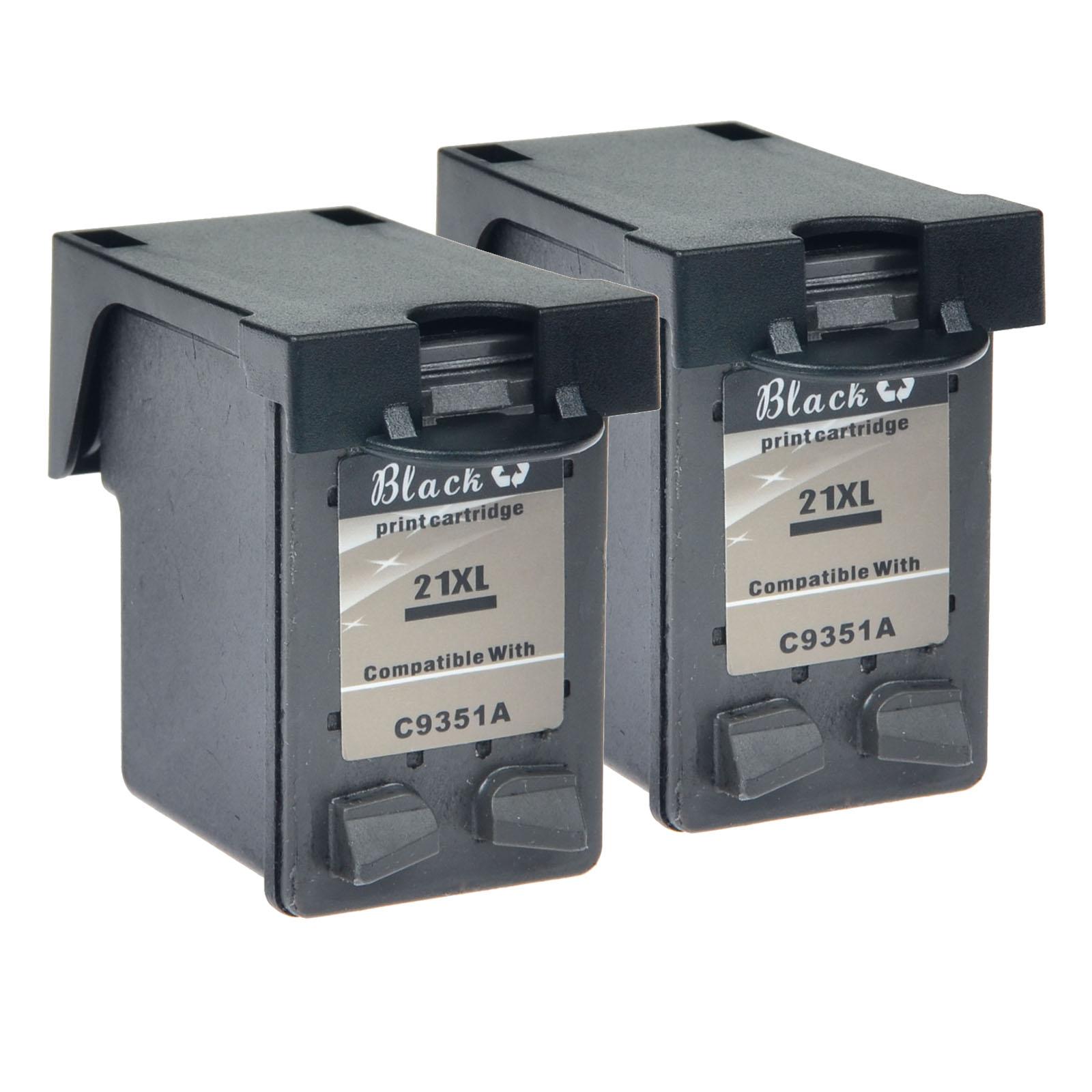 10 PK 21XL C9351A Black Ink Cartridge Reman For HP DeskJet D2468 F300 F310 F325