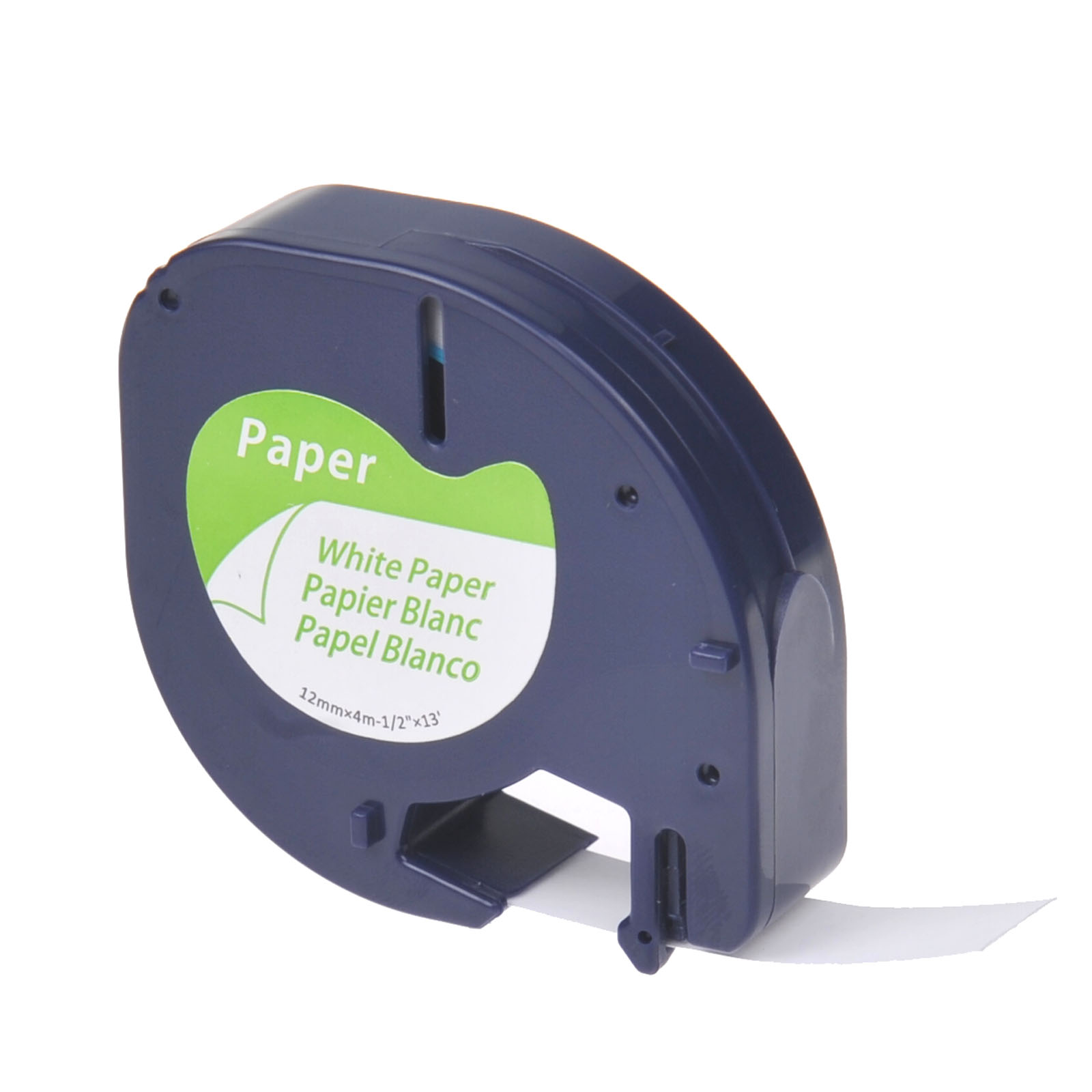 4 PK For DYMO Letratag Refills Label Tape 91330 12mm Black