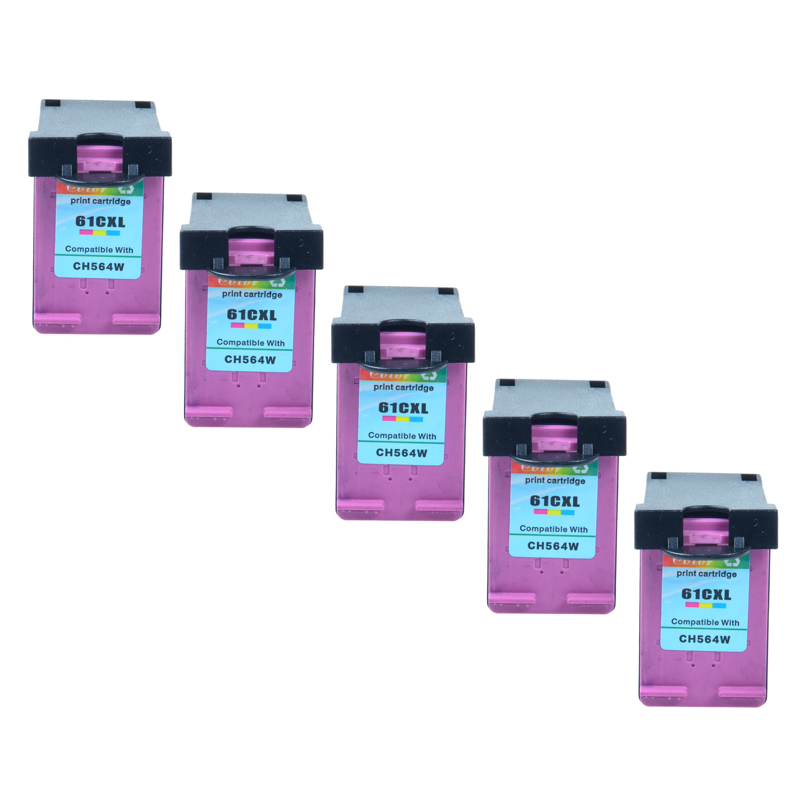 5PK Replacement HP 61XL Ink Cartridge for HP Deskjet 3051A 3056A 3511 2543 8040
