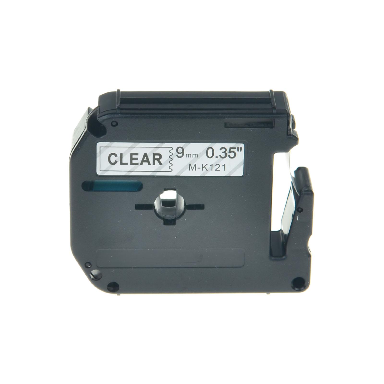 MK121 M-K12 Black on Clear Label Tape For Brother PT-70 PT-85 PT-90