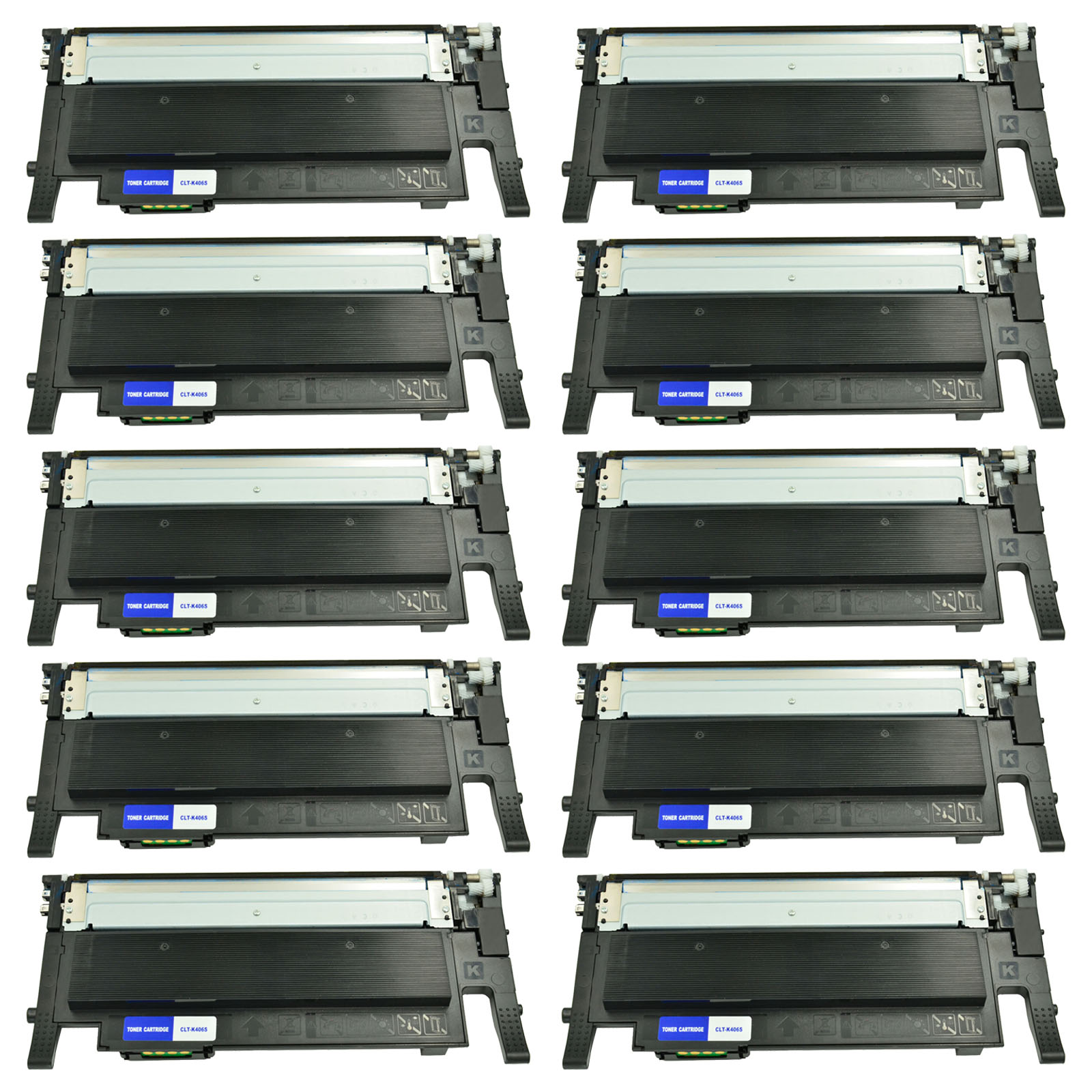 Compatible Toner Cartridges Replacement for Samsung CLT-K406S for Samsung CLP-360 CLP-365 CLX-3305 Laser Printer with Chips-Combination
