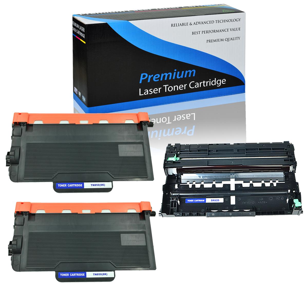 1 pk DR820 Drum for Brother DCP-L5650DN HL-L5000D Printer 3 pk TN850 Toner