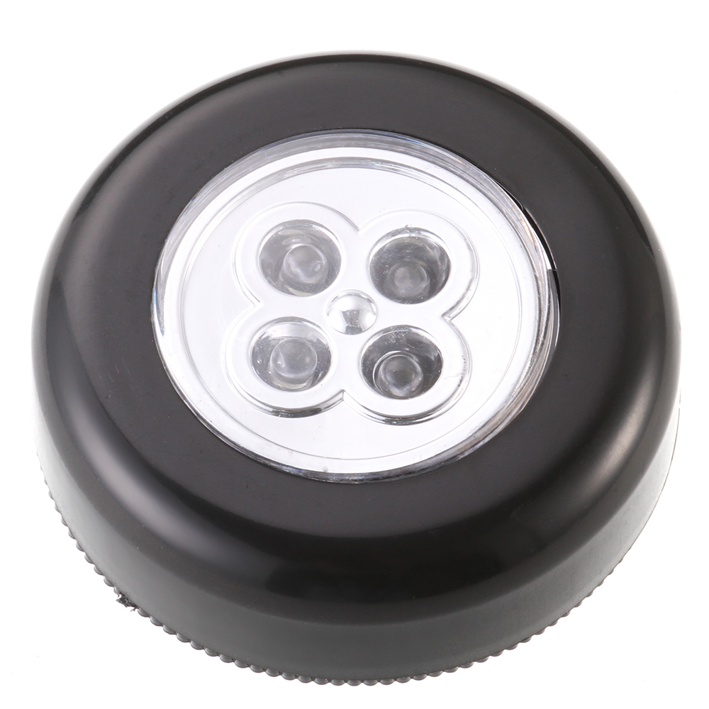 4 Led Battery Touch Light Cordless Stick Wardrobe Tap Lamp Night