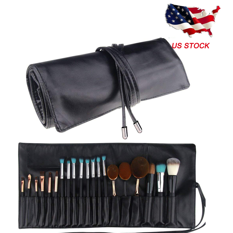 ae3c61f3525e Details about Makeup Brush Rolling Case Pouch Holder Cosmetic Bag Portable  Travel Organizer