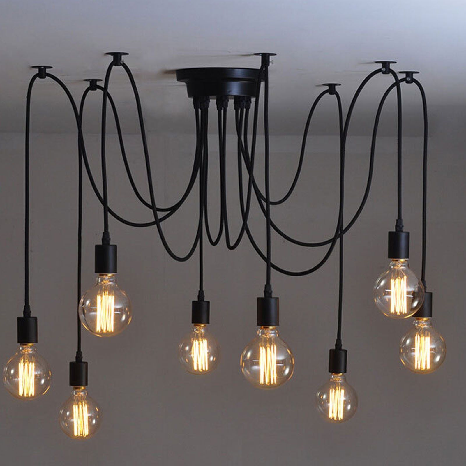 steel the spider chandelier heads room nordic products tbs black living