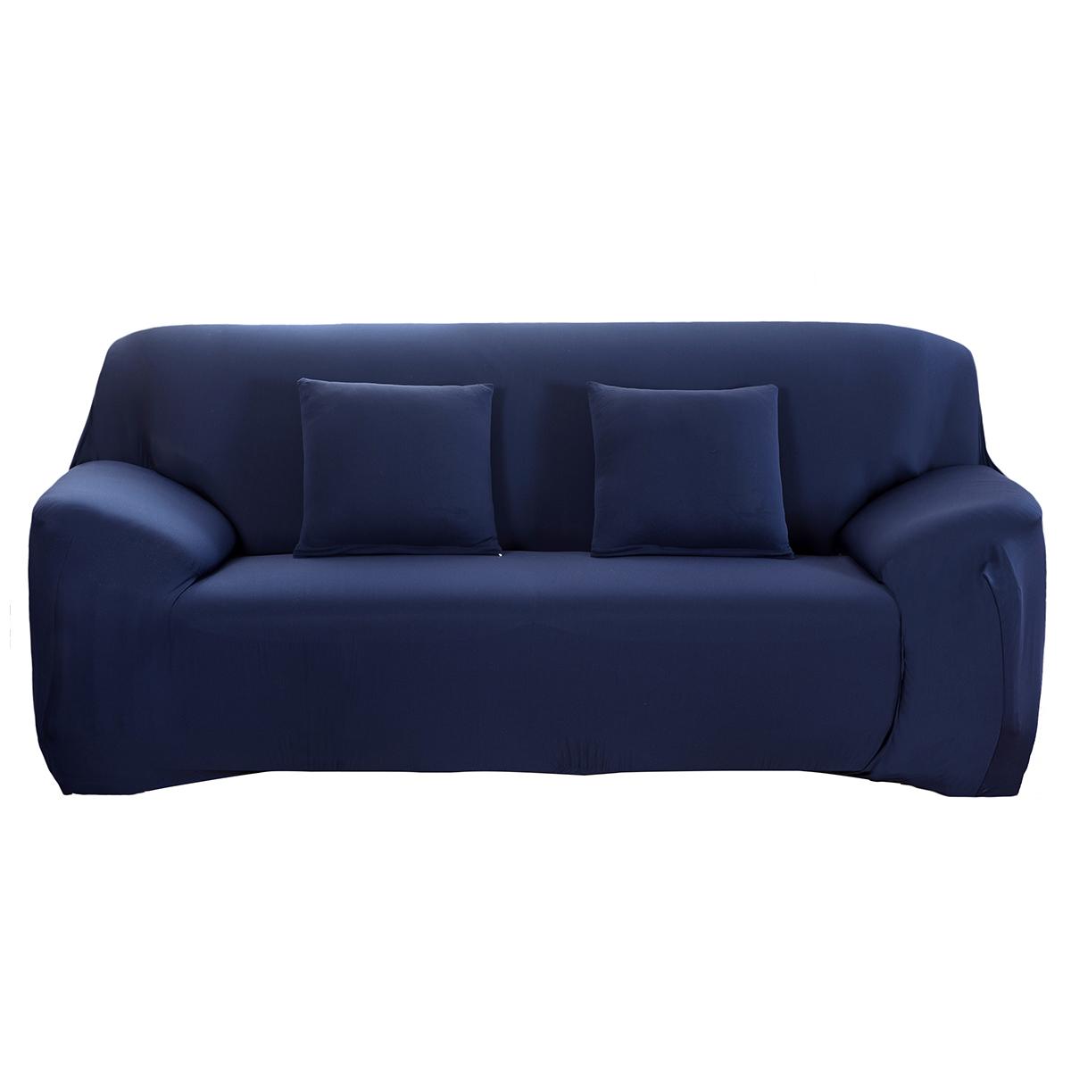 1 3 sitzer sofabezug stretchhusse sofahusse sitzbezug sofabez ge navy blue de ebay. Black Bedroom Furniture Sets. Home Design Ideas