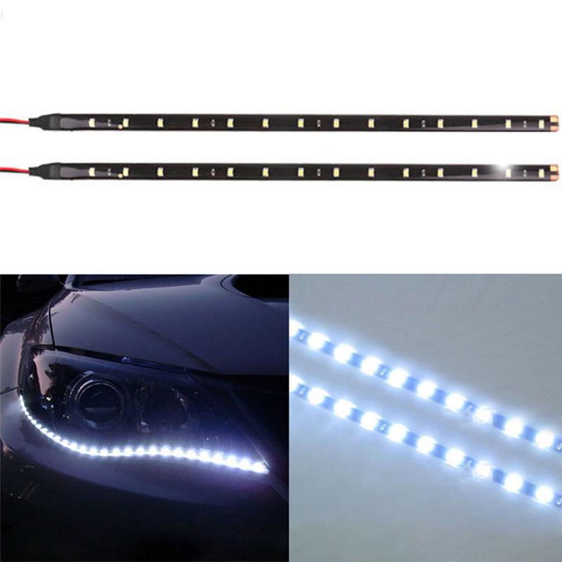 2x 5630 SMD 21LED Waterproof Car Auto Strip Light for DRL Fog Lamp Bar 12V MA138