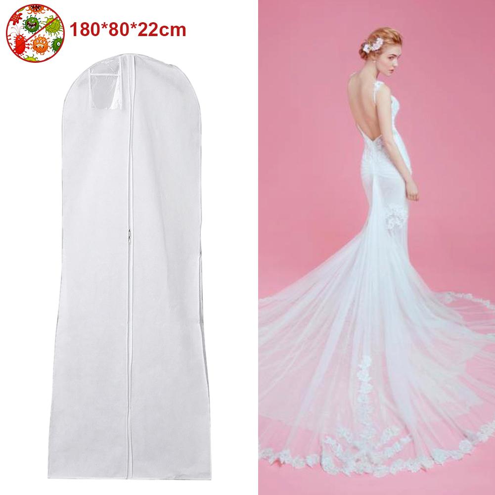 Waterproof Wedding Dress Storage Bags Long Bridal Gown Garment Cover  Dustproof
