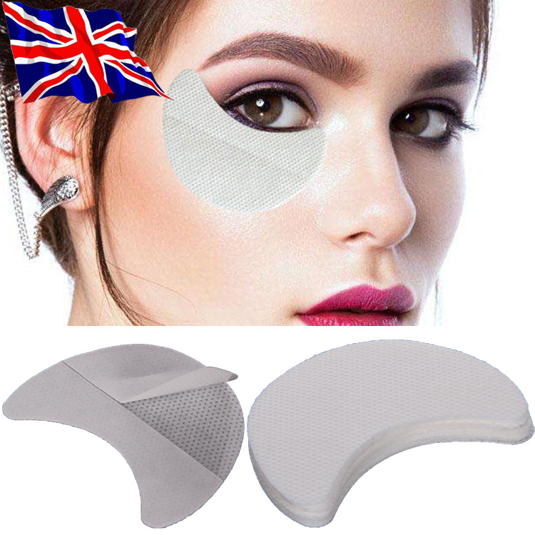 Details about 10/50/100pcs Eye Shadow Shields Patches Pads Under Eyeliner Stickers Makeup Tool