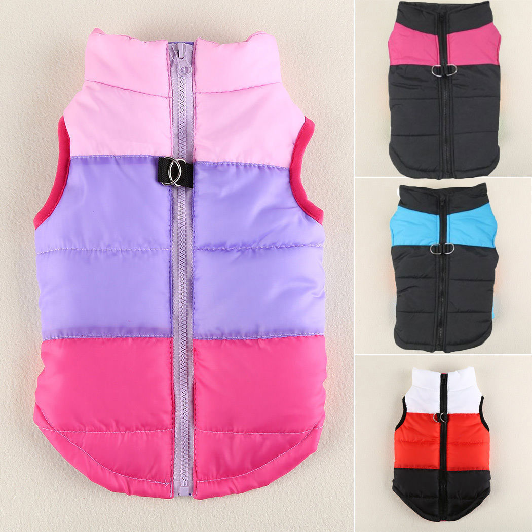 Pet Dog Clothes Puppy Insulated Padded Jacket Warm Winter Dog Coats Puppy XS M L 3
