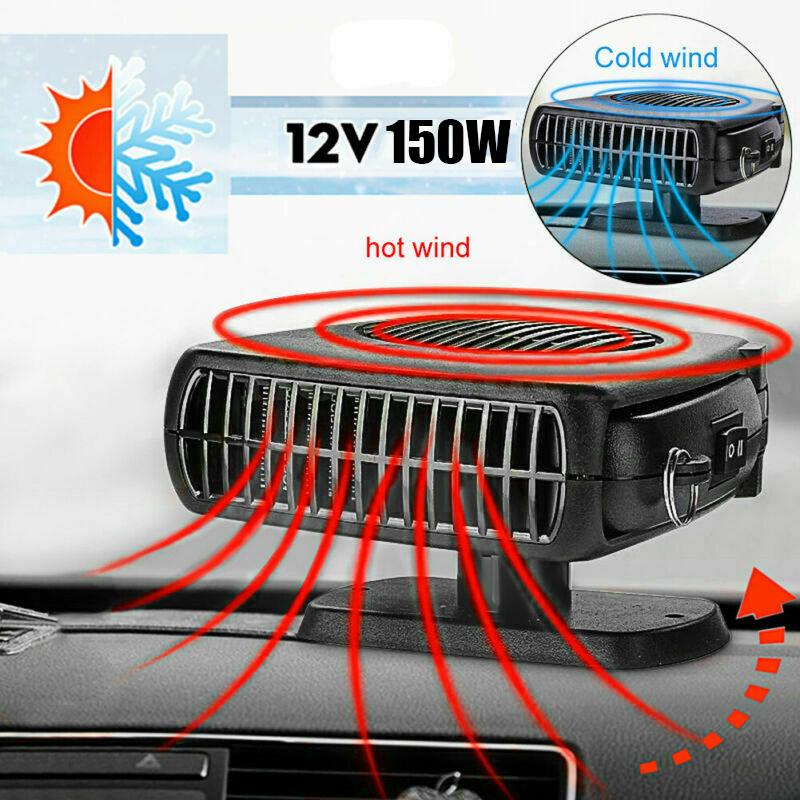 12V 200W Dryer Plugin 2 In 1 Heater Cooler Fan Portable Demister Car Auto NEW UK