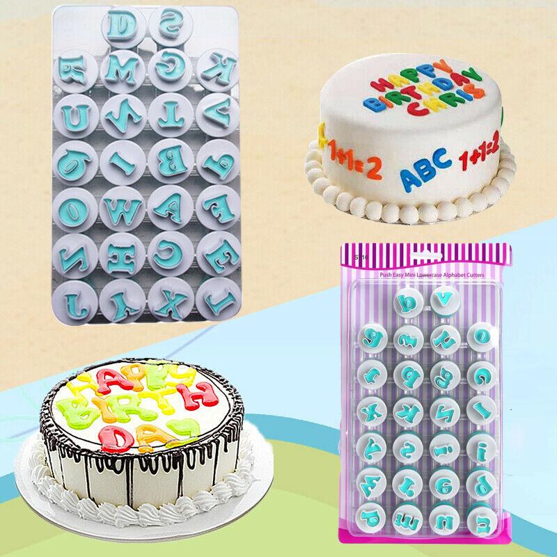 Marvelous Fda Alphabet Number Letter 26Pcs Set Fondant Cake Cookie Cutter Funny Birthday Cards Online Hendilapandamsfinfo